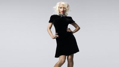 Christina Aguilera Black Dress Wallpaper 59848