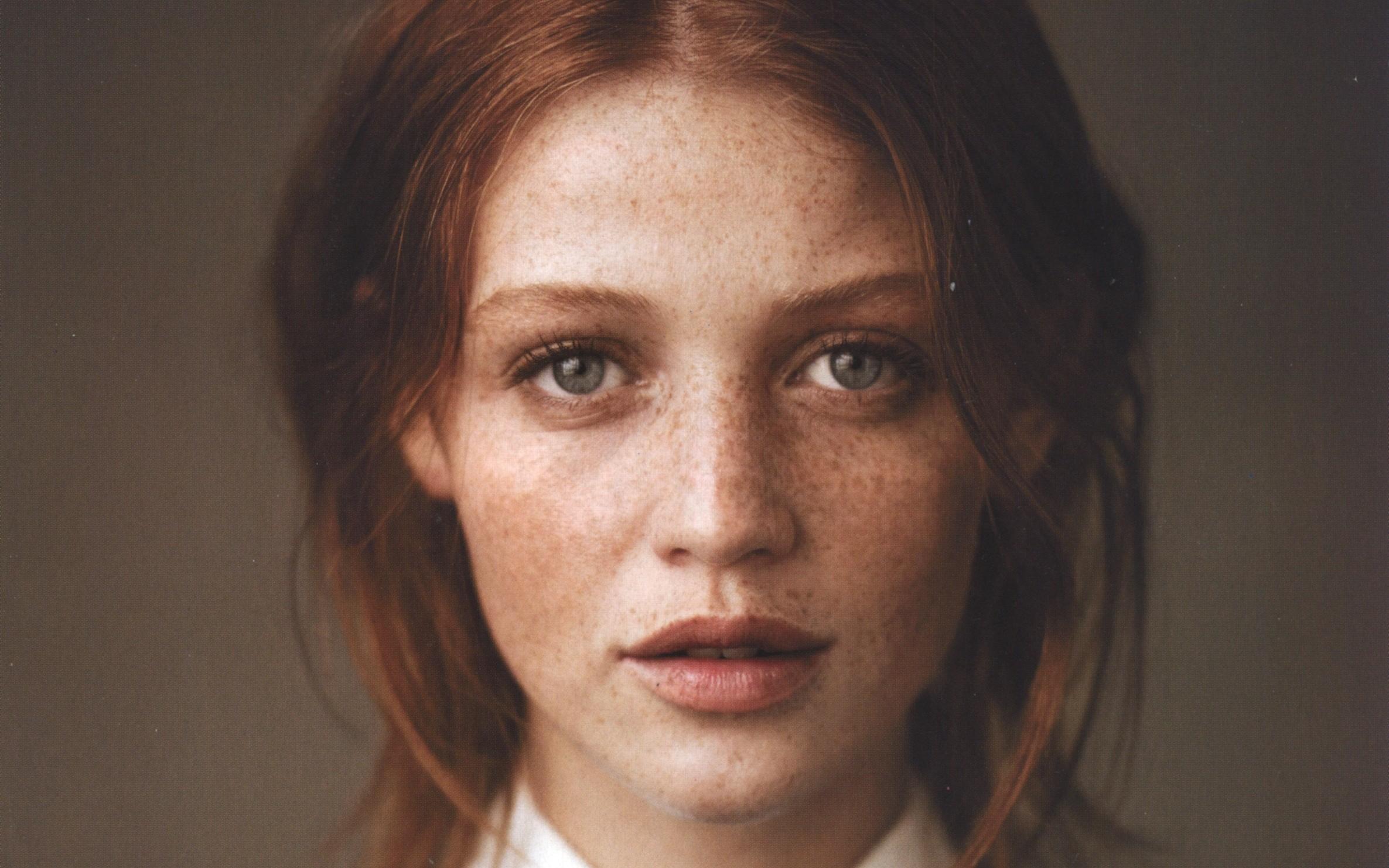 Cintia Dicker Face Freckles Wallpaper 60439 2371x1482 Px
