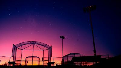 Night Baseball Field Wallpaper 61177