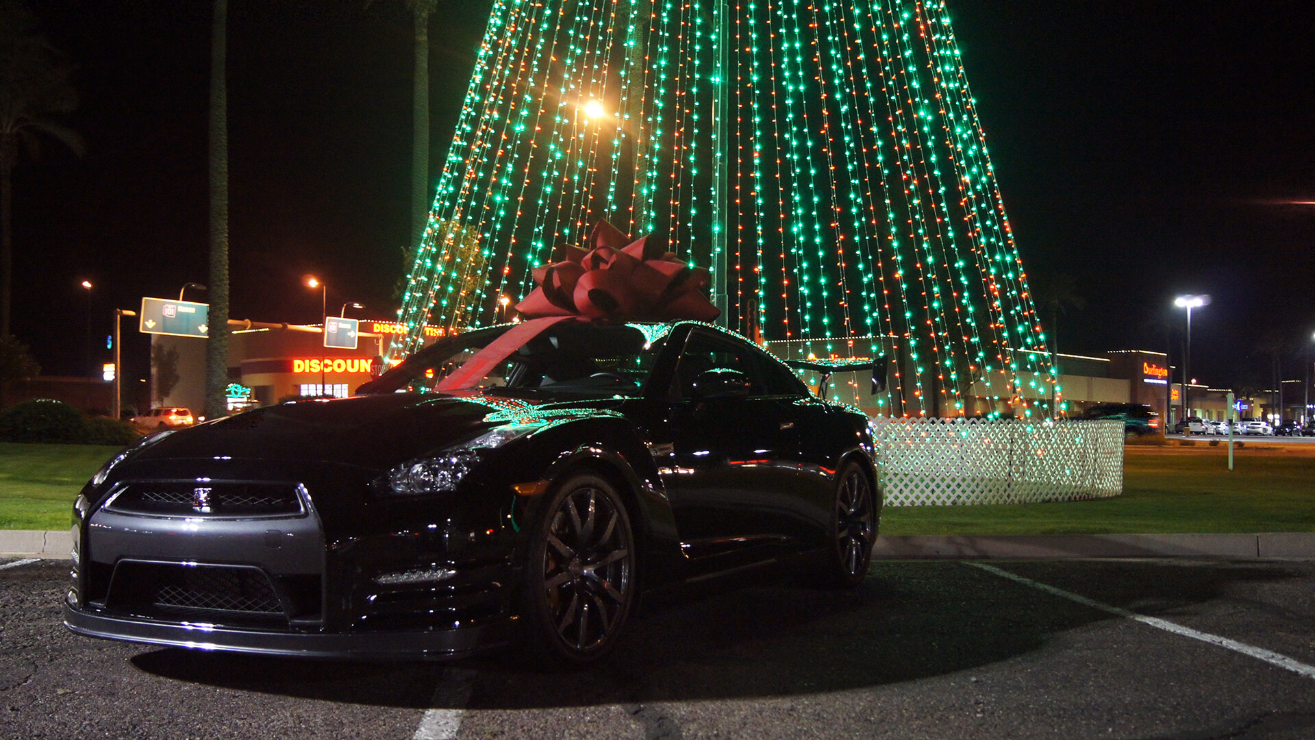 black gtr with red bow wallpaper 61776