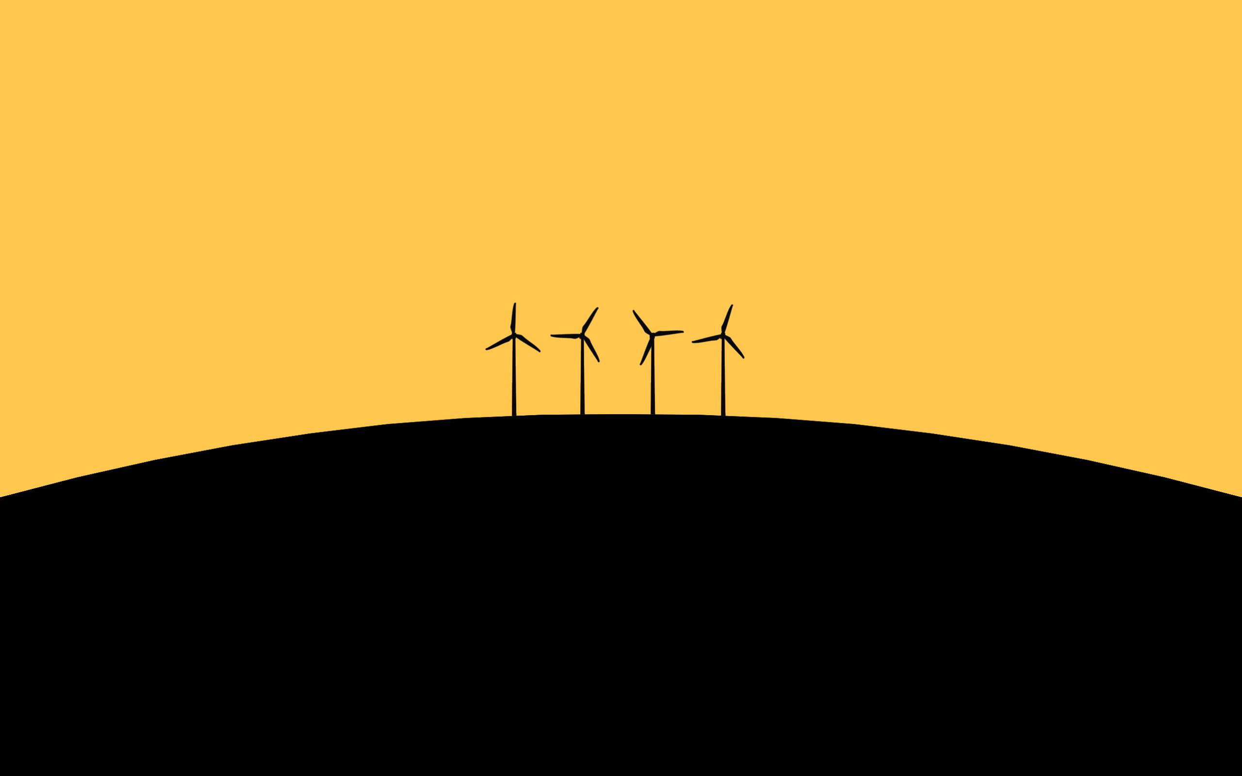 minimal windmill wallpaper background 61419