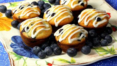 Blueberry Muffins Desktop Wallpaper 61316