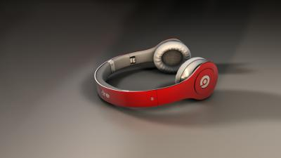 Red Beats Audio Headphones Wallpaper 62184