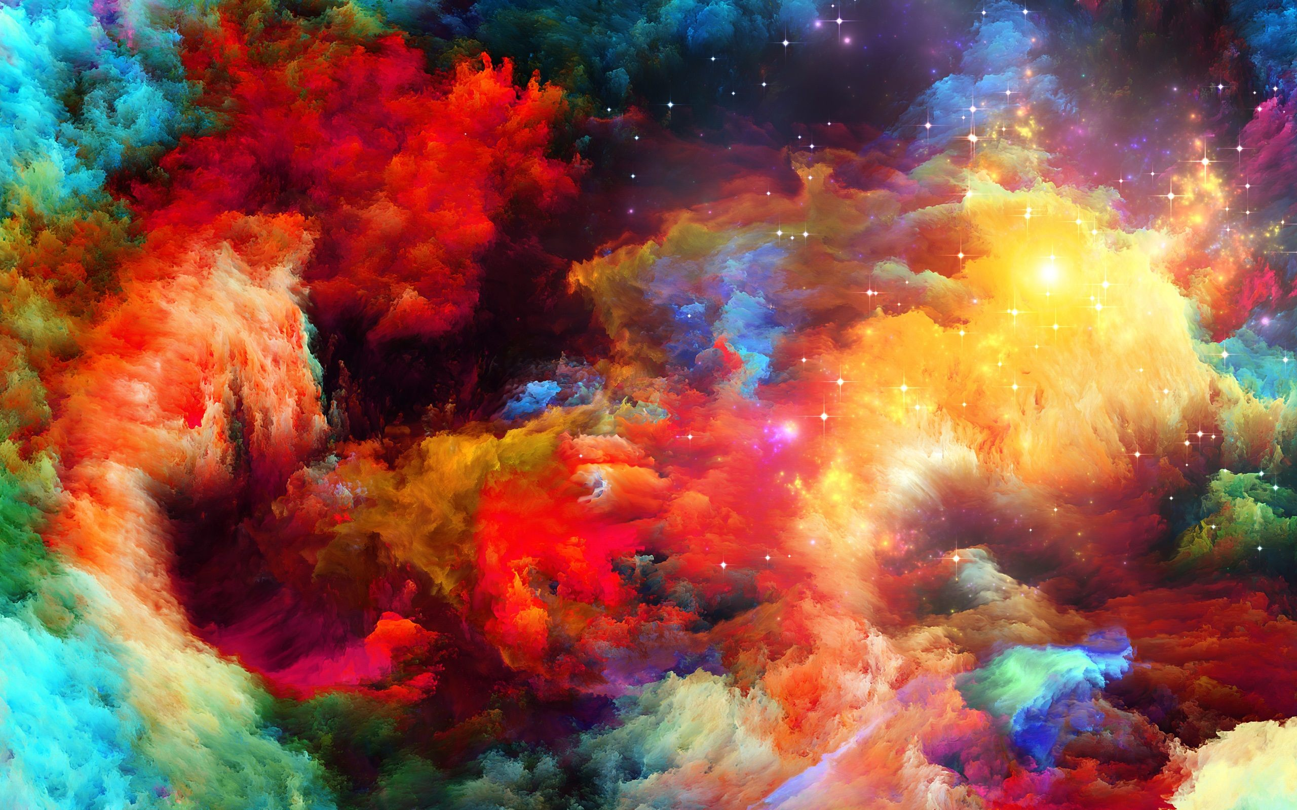 abstract rainbow explosion wallpaper background 63037