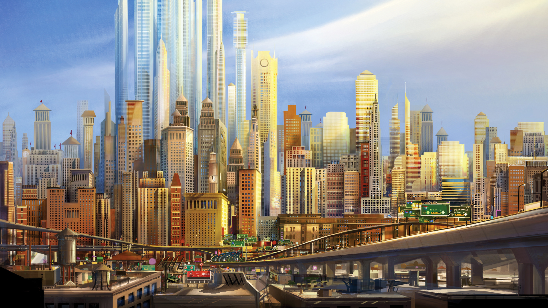 anime city desktop wallpaper hd 64896