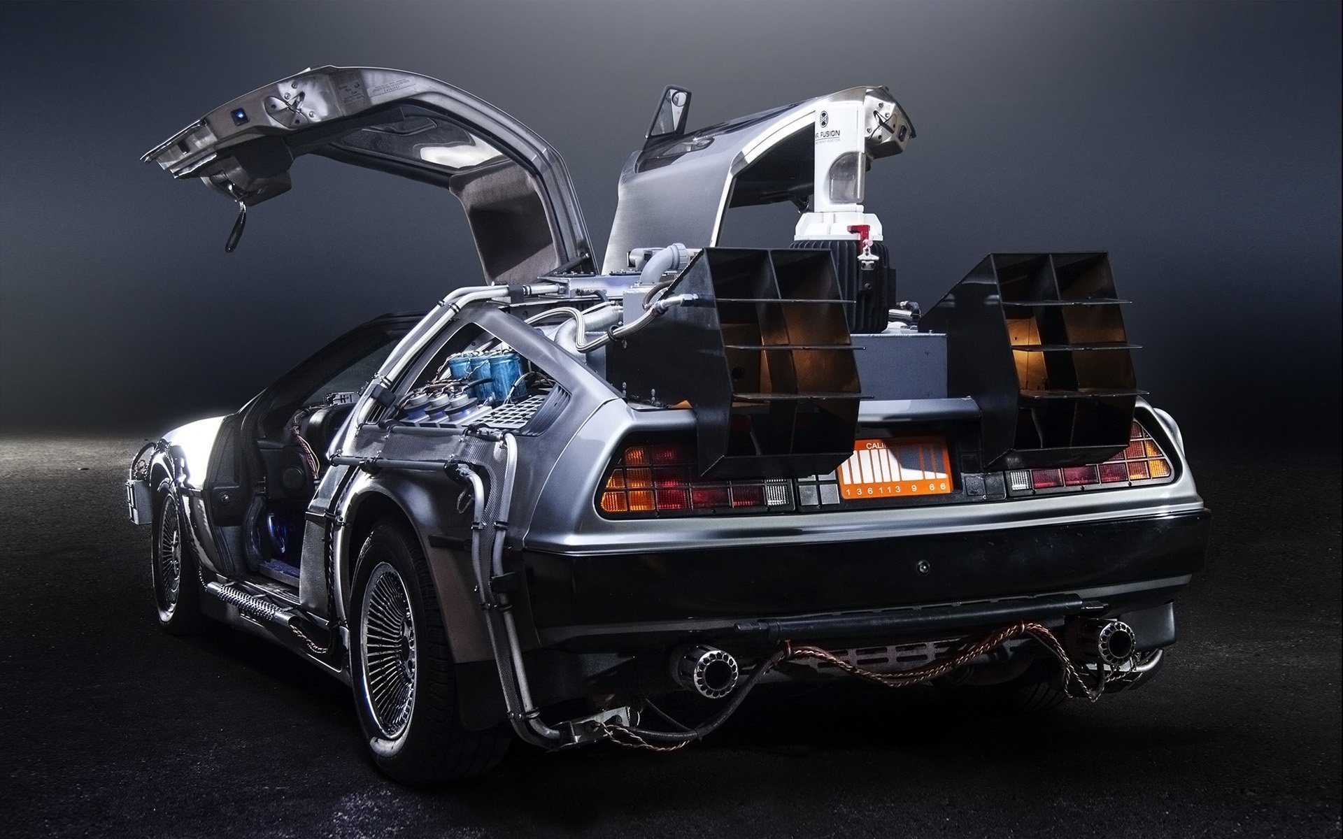 delorean rear view wallpaper 62498