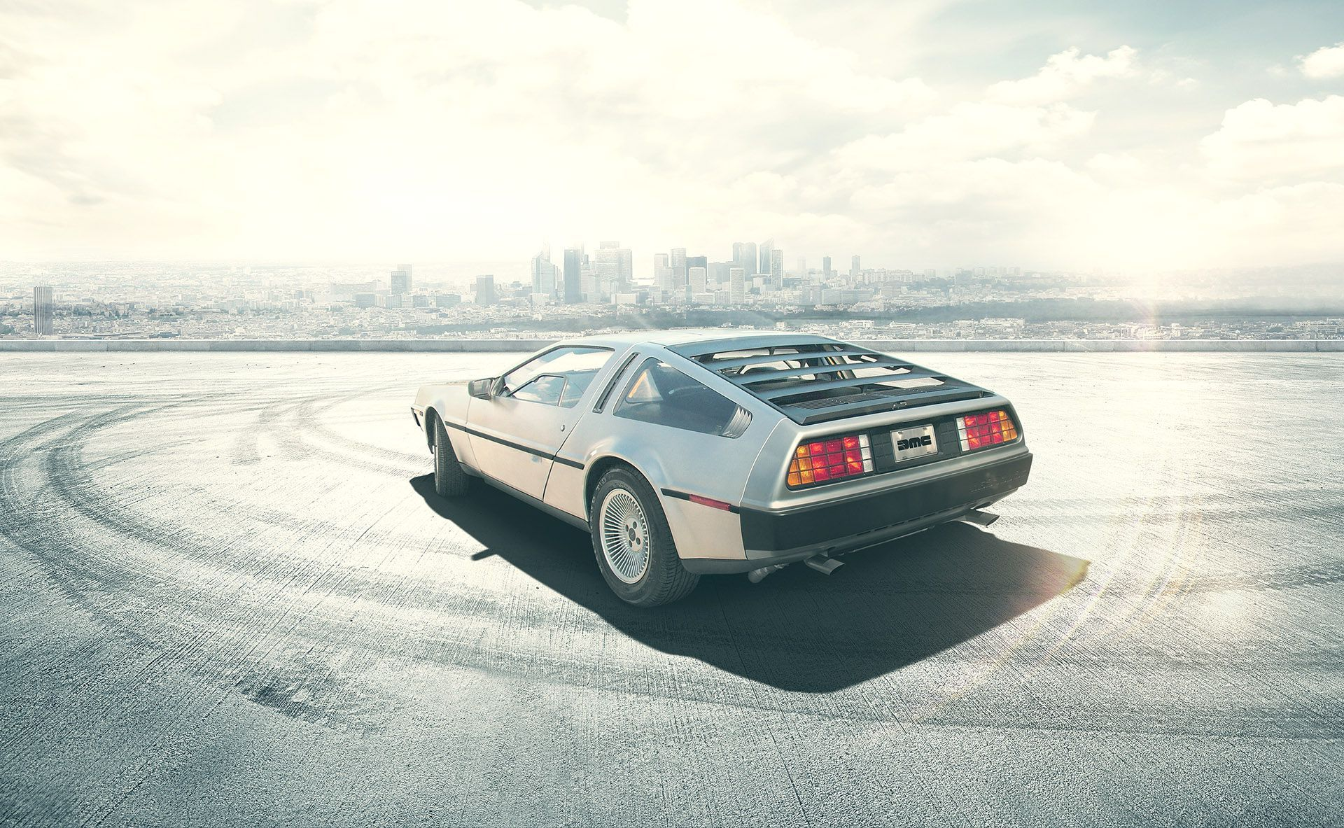 dmc delorean desktop wallpaper hd 62497