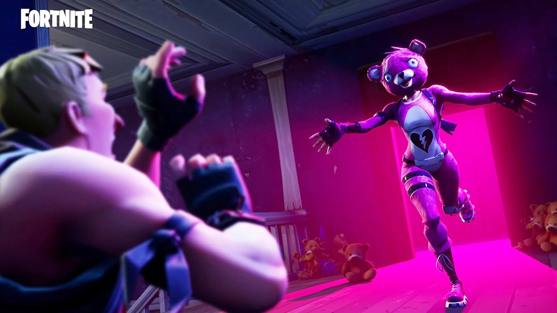 fortnite pink bear skin wallpaper 63893