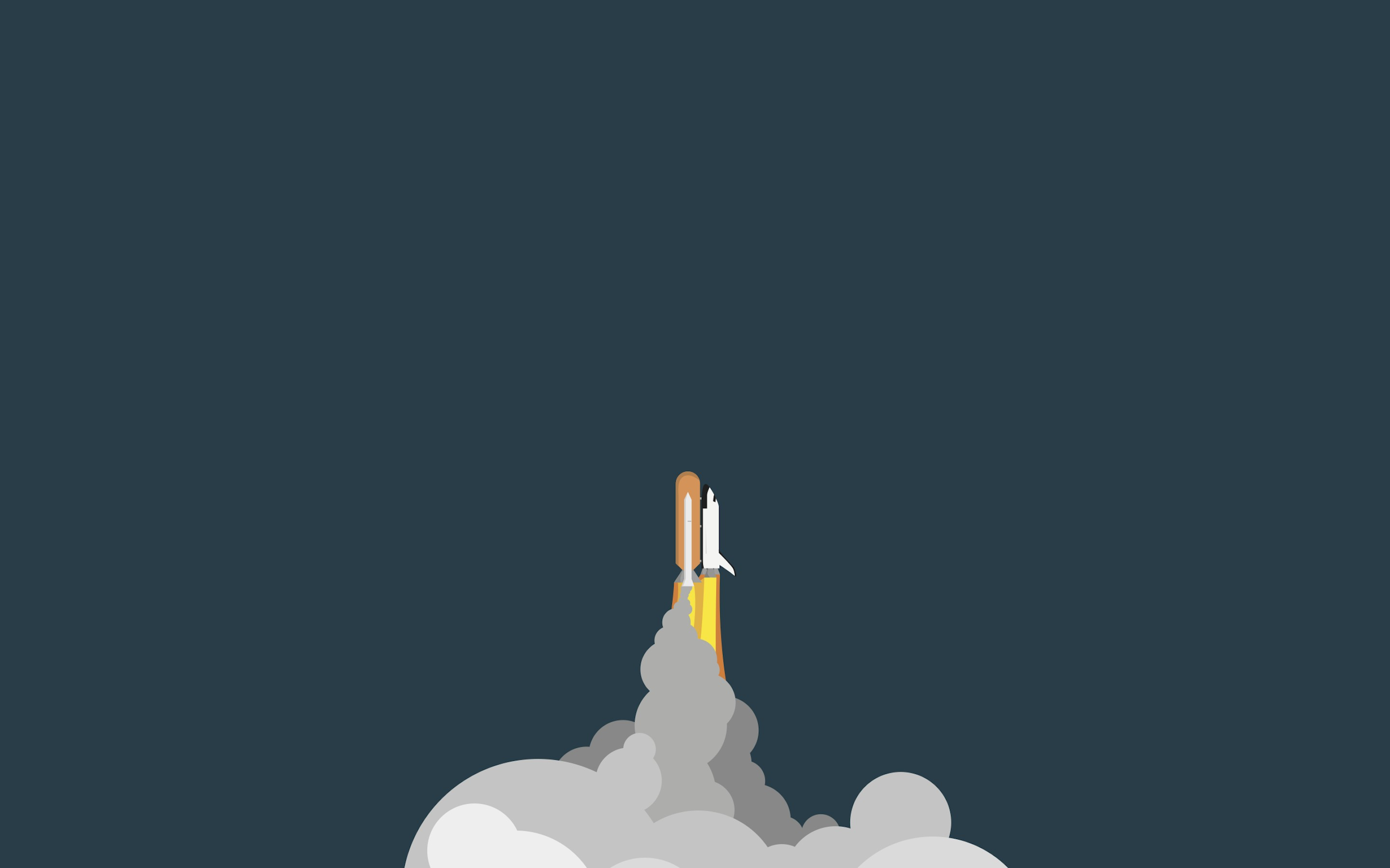 minimalist space rocket wallpaper background 63432