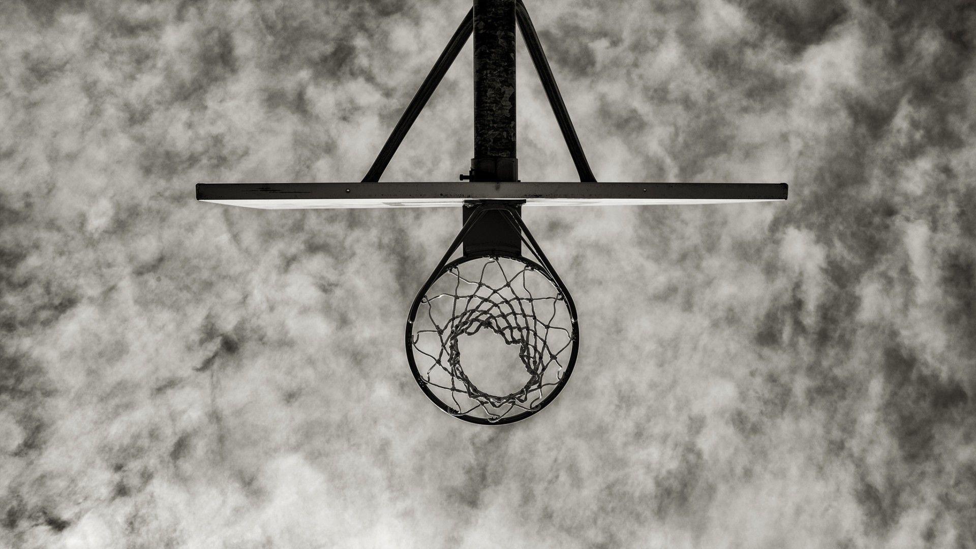 monochrome basketball hoop wallpaper 64223