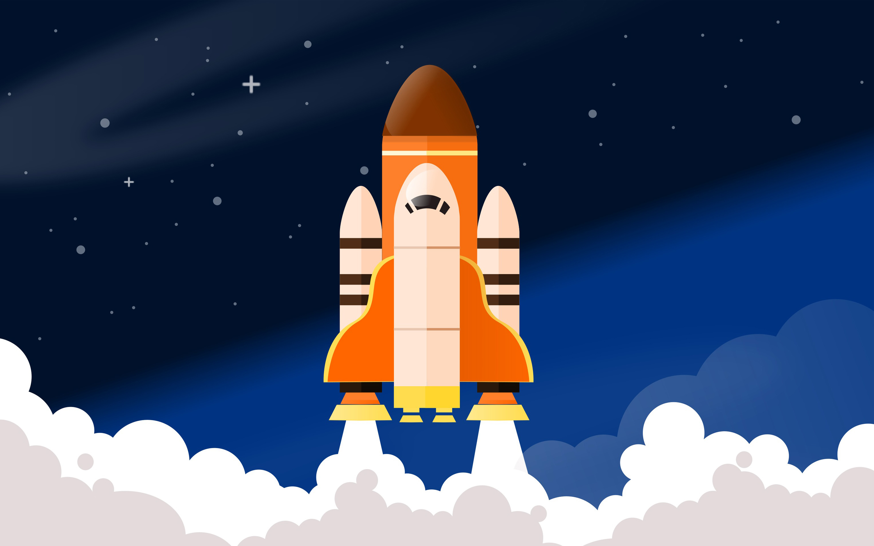 space rocket shuttle digital art wallpaper background 63426