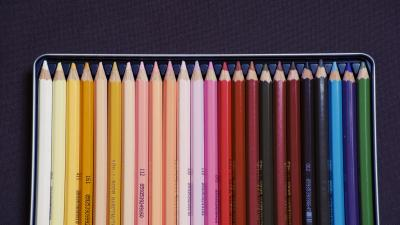 4K Colored Pencils Wallpaper Background 64415