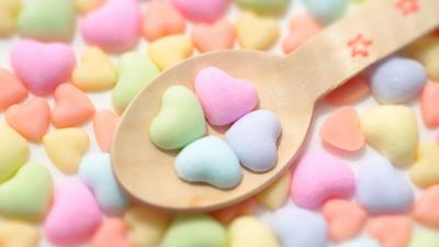 Candy Hearts Wallpaper Background 65329