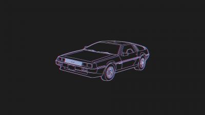 DeLorean Car Artwork Wallpaper 62501