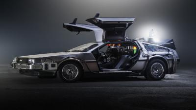 DeLorean Car Side View Wallpaper 62499