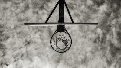 Monochrome Basketball Hoop Wallpaper 64223