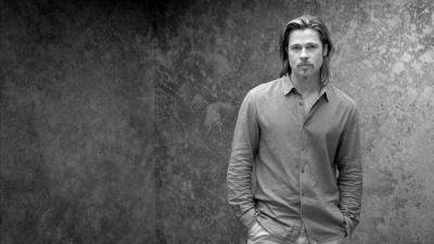 Monochrome Brad Pitt Wallpaper 64277