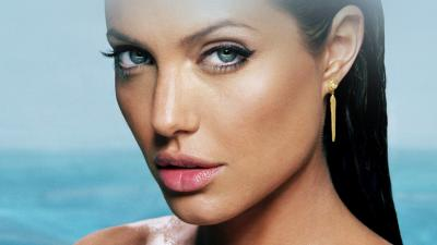 Sexy Angelina Jolie Face Widescreen Wallpaper 64283