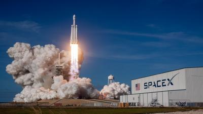 SpaceX Falcon Heavy Wide Wallpaper 63431