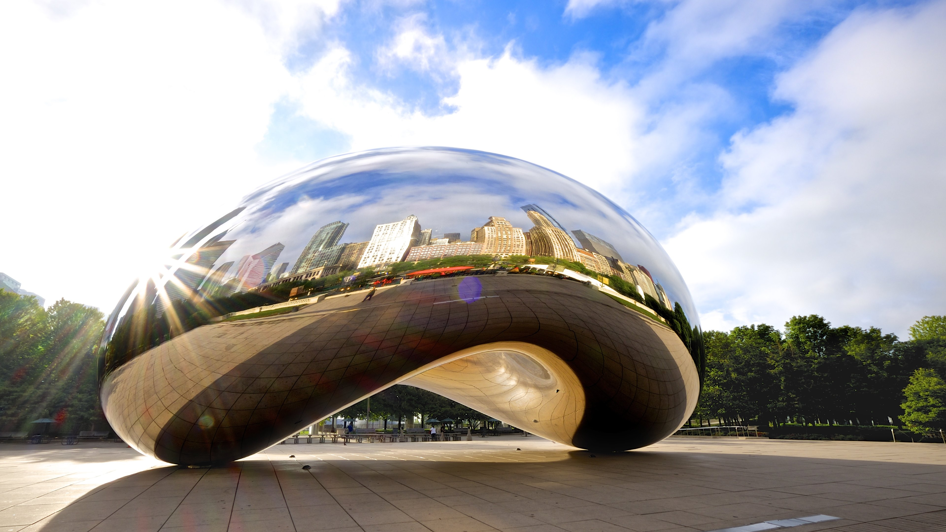 chicago cloud gate widescreen hd wallpaper 62925