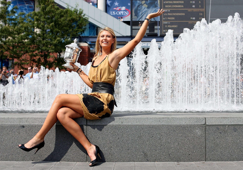maria sharapova tennis athlete wide wallpaper 64997