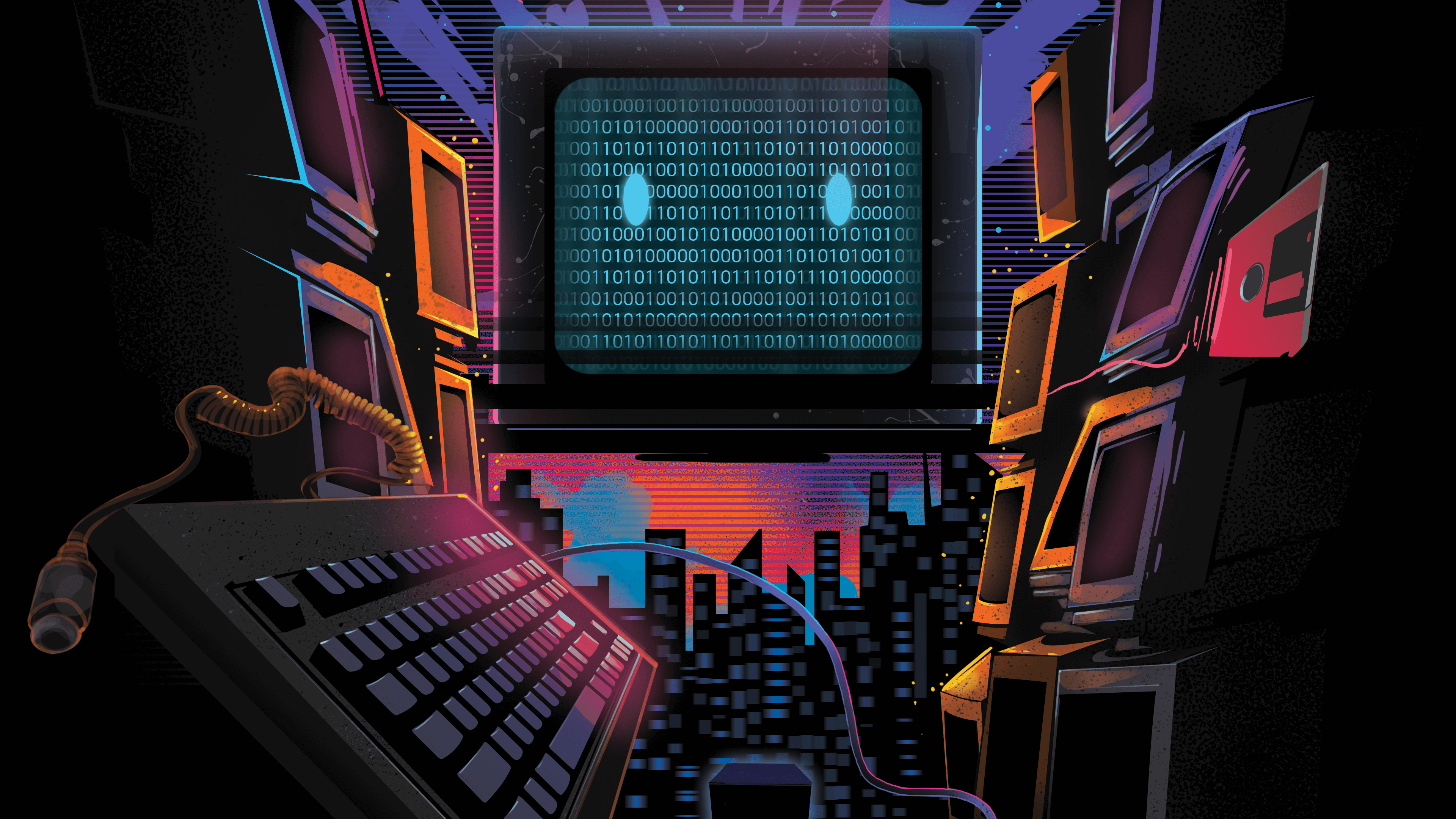 retro abstract computers wallpaper 64259