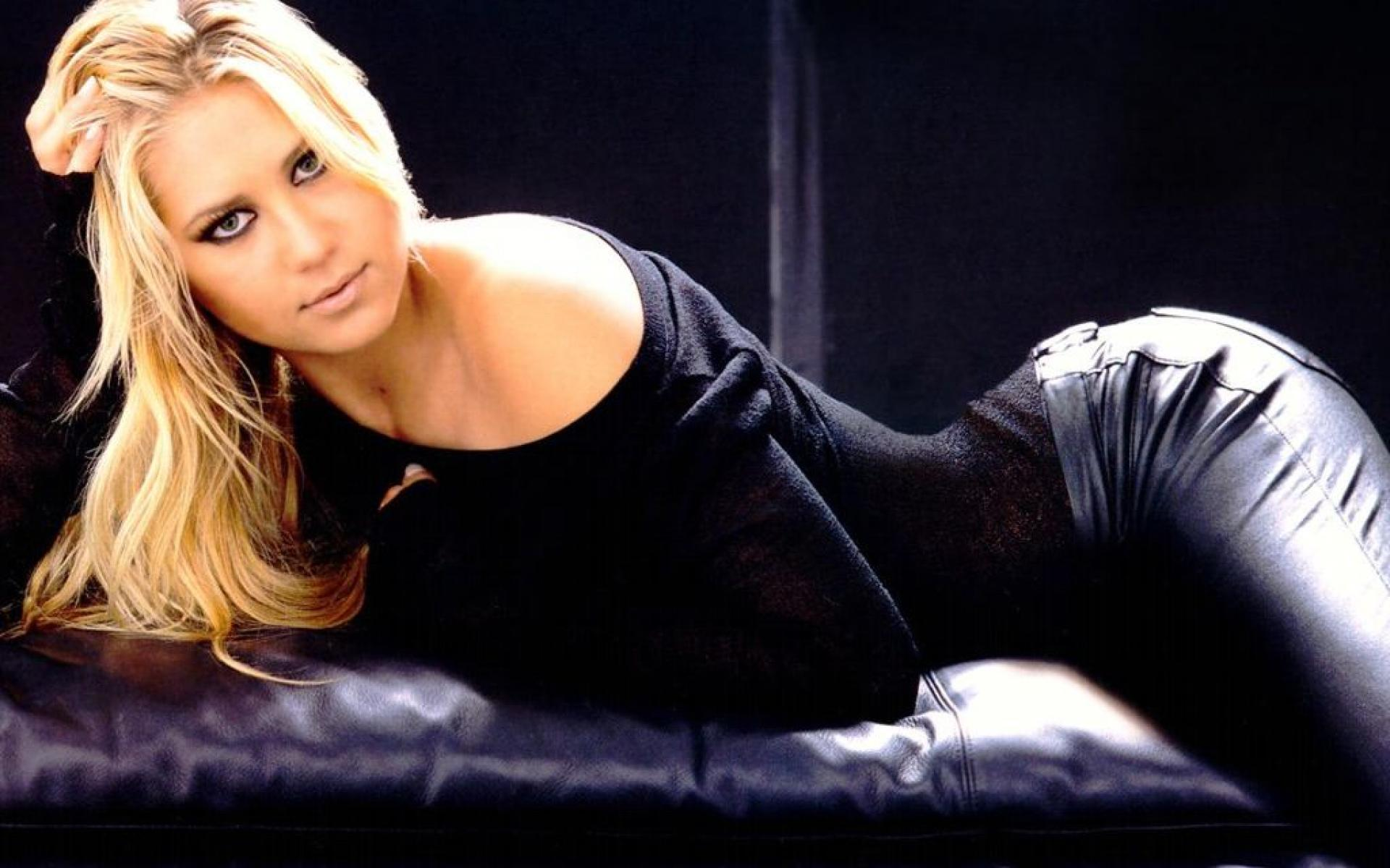 sexy anna kournikova leather wallpaper 65031