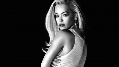 4K Monochrome Rita Ora Wallpaper 64615