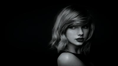 4K Monochrome Taylor Swift Wallpaper 65259
