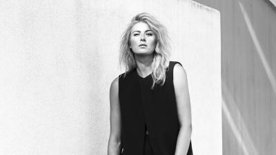 Black and White Maria Sharapova Wallpaper 65024