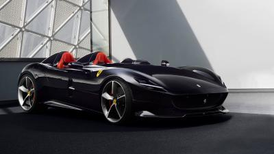 Black Ferrari Monza Background Wallpaper 65322