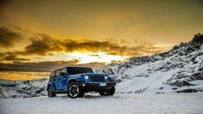 Blue Jeep Wrangler Off Roading Wallpaper 65140