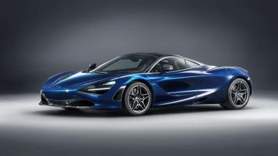 Blue McLaren 720s Wide Wallpaper 66176