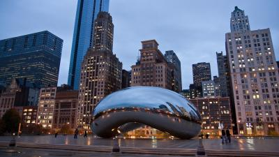 Chicago Cloud Gate Bean Desktop Wallpaper 62926