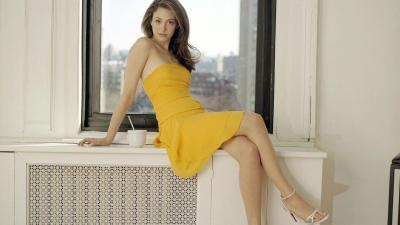Emmy Rossum Yellow Dress Wallpaper 65335