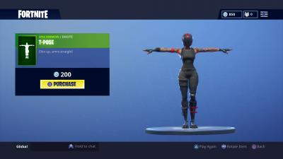 Fortnite T Pose Wallpaper 65474
