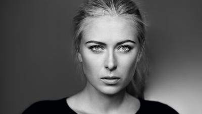 Monochrome Maria Sharapova Face Wallpaper 65016