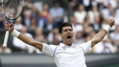 Novak Djokovic Celebrating Wallpaper 64988