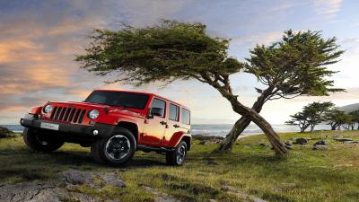 Red Jeep Wrangler Background Wallpaper 65141