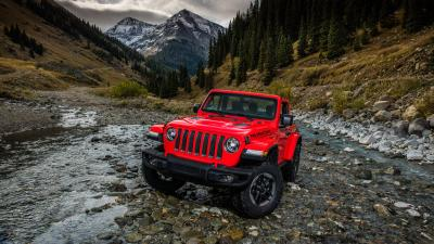 Red Jeep Wrangler Widescreen Wallpaper 65133