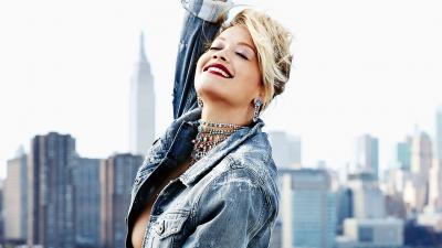 Rita Ora Happy Smile Wallpaper 64622