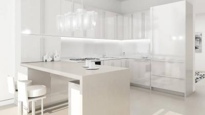 White Kitchen Wallpaper 62685