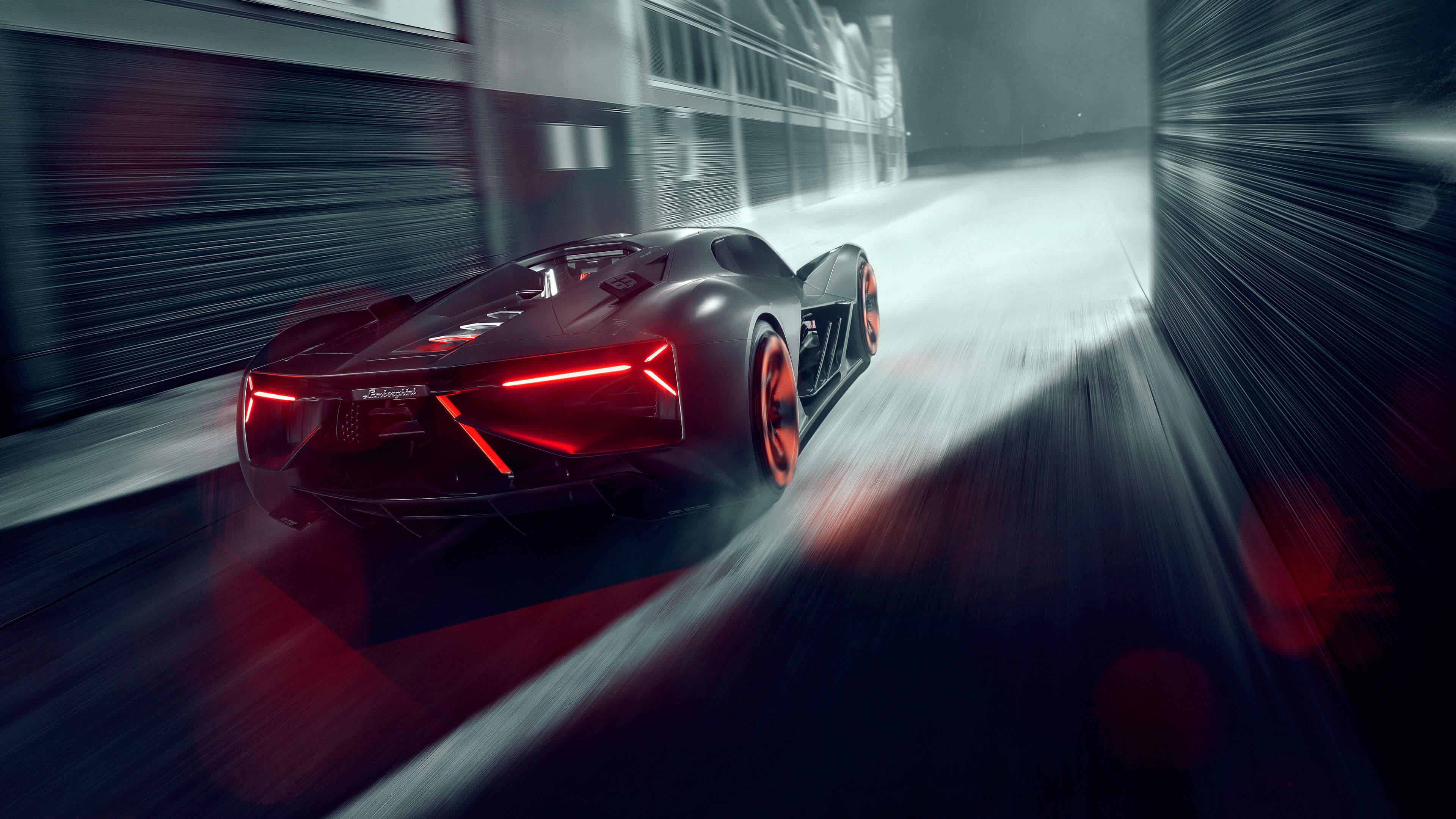 Lamborghini Terzo Millennio Widescreen Background Wallpaper 66213