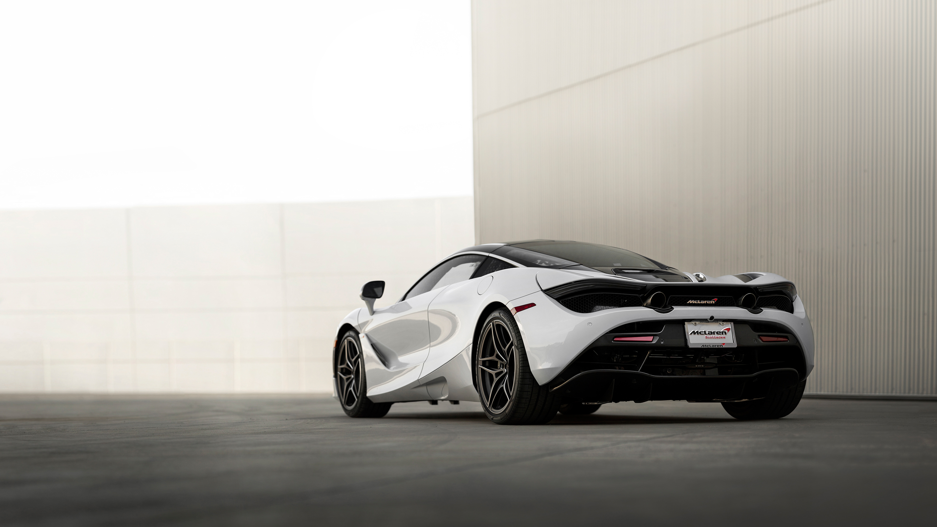 mclaren 720s rear view wallpaper 66200
