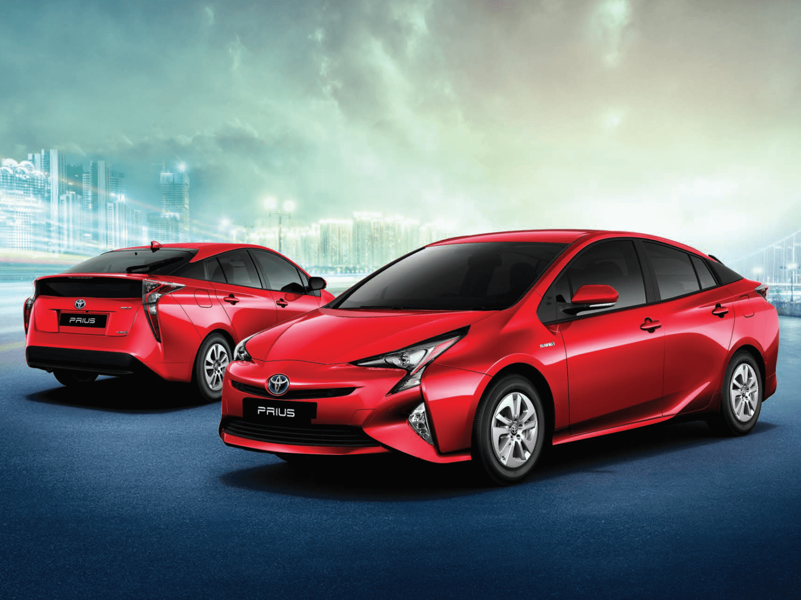red toyota prius computer wallpaper 64945