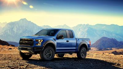 Blue Ford Raptor HD Background Wallpaper 64936