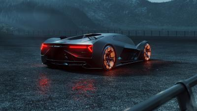 Lamborghini Terzo Millennio Rear View Wallpaper 66209