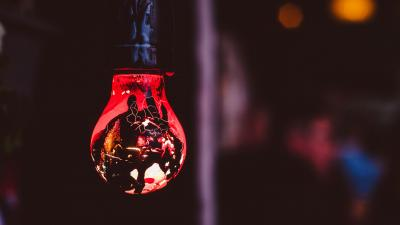 Red Light Bulb Wallpaper HD 65929