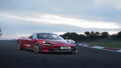 Red McLaren 720s Car on Track Wallpaper 66189
