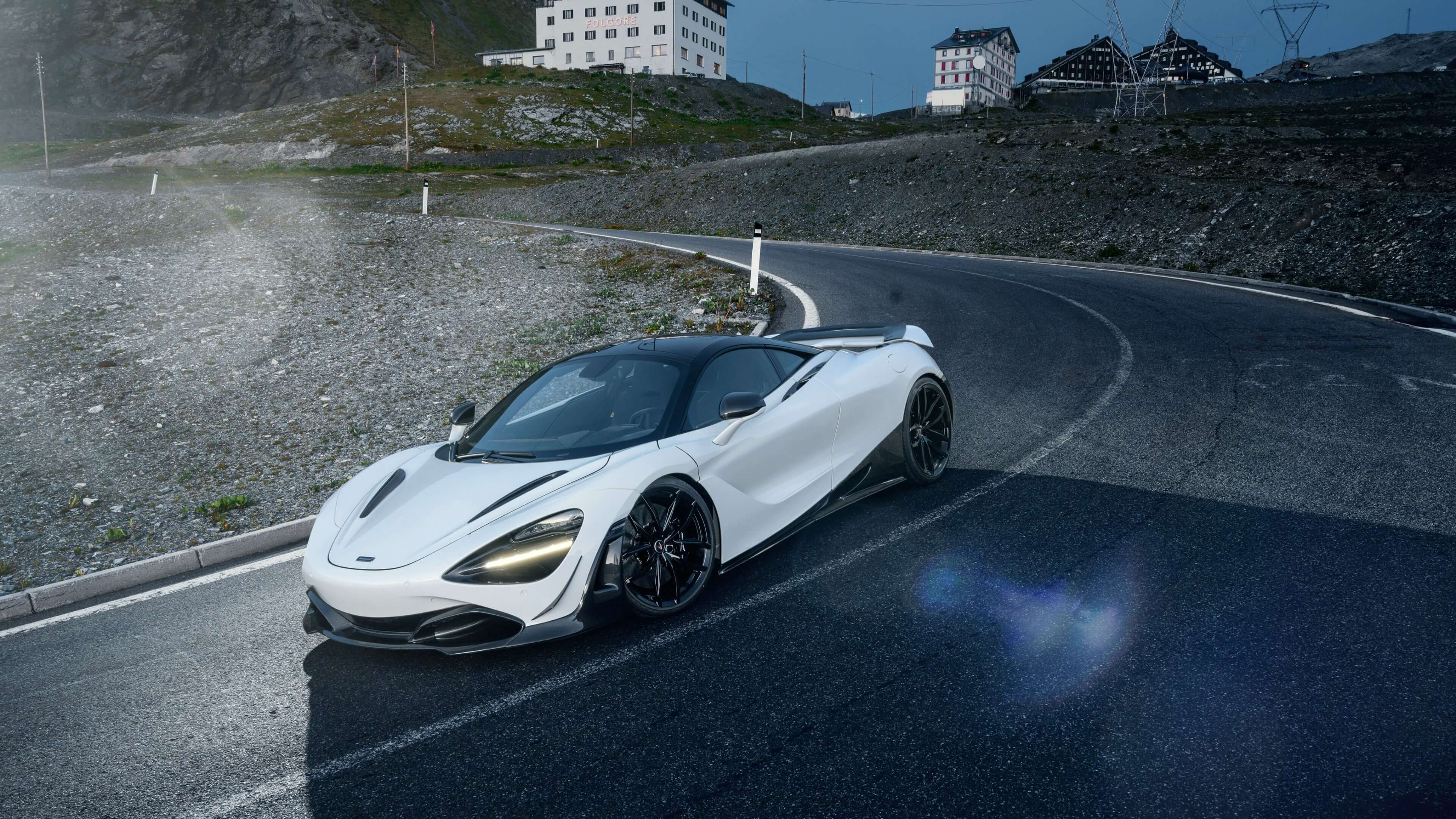 white mclaren 720s car wallpaper 66187